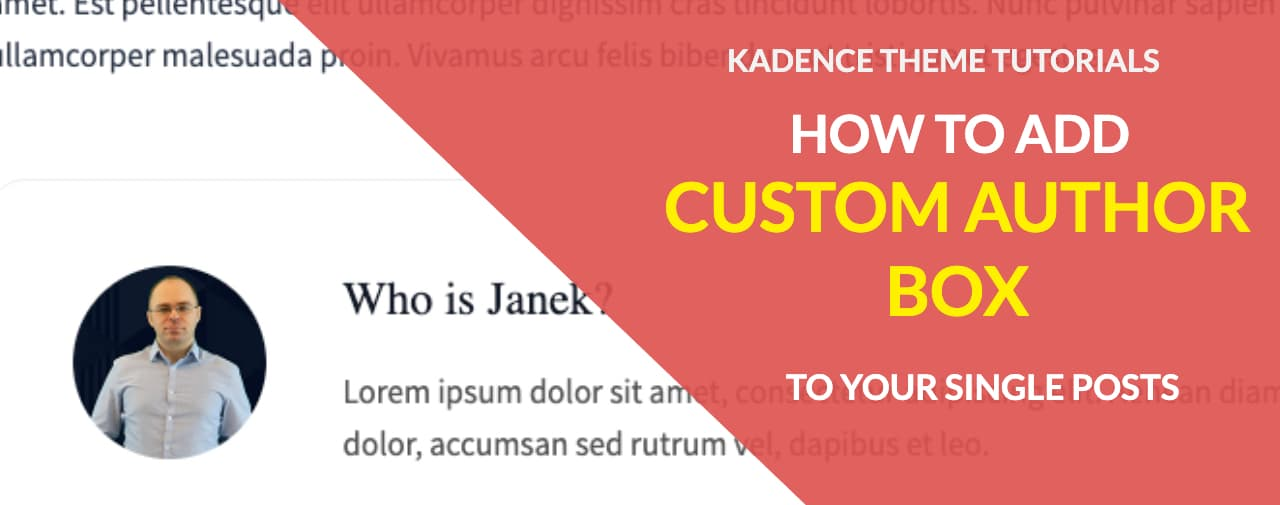 Kadence theme tips: How to add Custom Author Info Box?