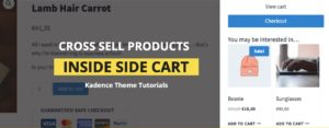 How to Add Cross Sell Products Inside Kadence Theme Side Cart?