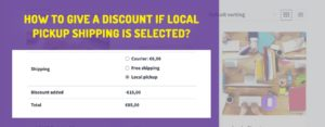 Wocommerce: How to Give a Discount to Local Pickup?