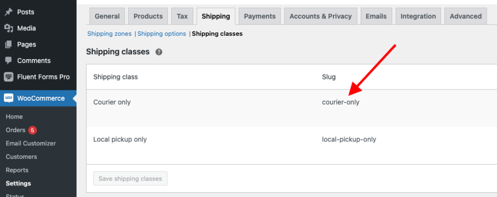 How to Hide Woocommerce shipping methods for specific shipping classes?